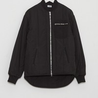 Nomia Oversized Bomber Jacket in Black | The Dreslyn