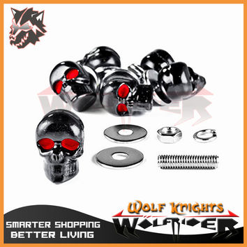 Motorcycle Parts Skull Fairing Windscreen License Plate Bolts Screw Nuts 6mm Fit For Harley Davidson XL 883 Hugger Sportster