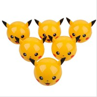 6 Pcs/Pack Creative 3parts Pikachu Weed Herb Grinder Zinc Alloy Smoke Tobacco Hand Muller Crusher for Smoking Pipe Cigarettes