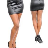 G2 Fashion Square Black Sexy Mini Skirt