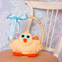 Easter Chick Basket for Boys!