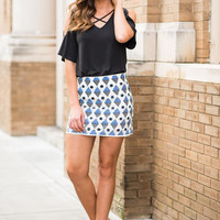 A Great Start Skirt, Cobalt