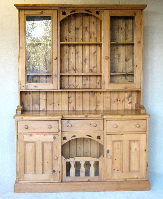Antique Pine Cabinet, Reclaimed Barn Wood, Sideboard
