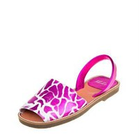 Illa Two-Tone Animal Print Leather Albarca Sandals - Colorful Summer Sandals for Her - Modnique.com