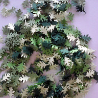 Spring Oak Leaf Confetti In Shades of Green 500 pcs Wedding Decor, Reception Decor,Table Scatter,  Bridal or Baby Showers All Occasions!