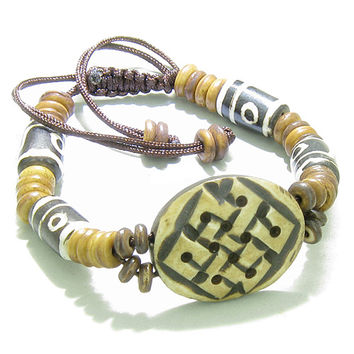 Amulet Original Tibetan Endless Protection Celtic Knot  Lucky Charm Bracelet