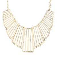 Cut-Out Metal Collar Necklace by Charlotte Russe