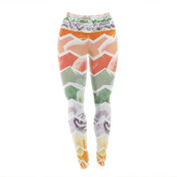 "Daisy Beatrice ""Desert Dreams"" Chevron Yoga Leggings"