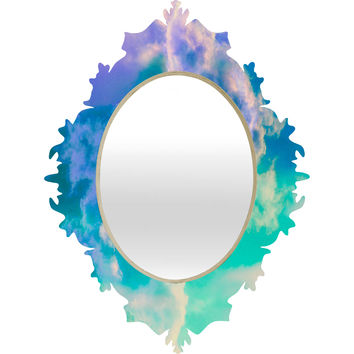 Caleb Troy Mountain Meadow Painted Clouds Baroque Mirror