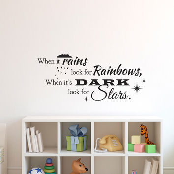 Look for Rainbows and Stars Quote