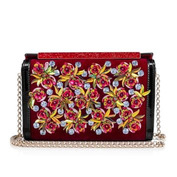 Vanité Clutch Multicolor Velvet - Handbags - Christian Louboutin