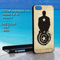 iPhone Case Captain America The Avenger, Print On Hard Cover, iPhone 4 Case, iPhone 4S Case, iPhone 5 Case