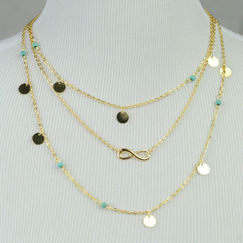Infinity Layered Necklace