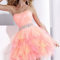 Ruffles and Tiers Prom Dress by Hannah S