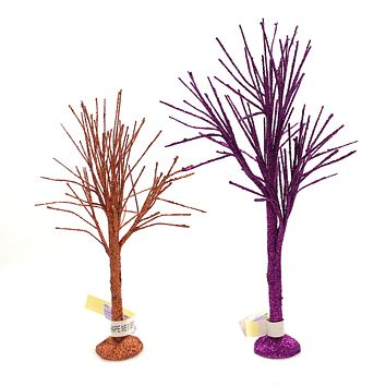 Department 56 Accessory OCTOBER SPARKLE BARE BRANCH TREE Halloween Glitter 6004337