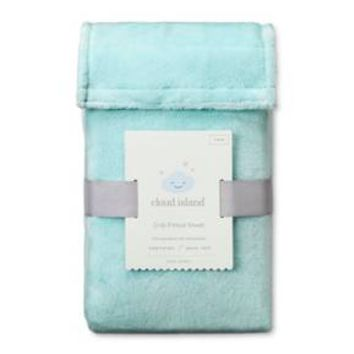 Plush Fitted Crib Sheet Solid - Cloud Island™ - Mint