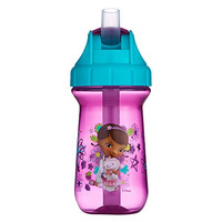 The First Years Disney Junior Doc McStuffins Flip Top Straw Cup