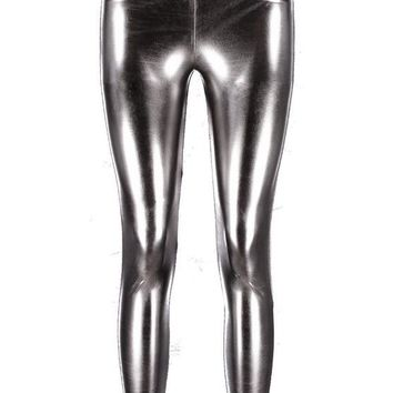 Bedella High Shine Metallic Leggings | Boohoo