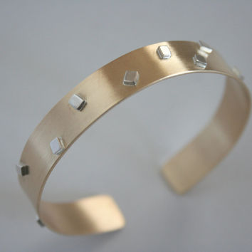 Gold and silver party cuff bracelet