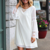 Central Park Walk Dress {Cream}