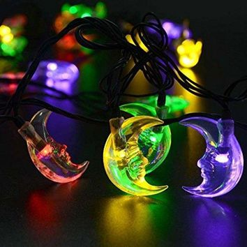 Solar Power Moon LED String Light Christmas Festival Decoration