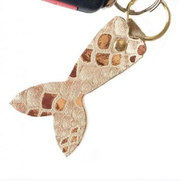 Keychains - Mermaid Tail Keychain in Gold