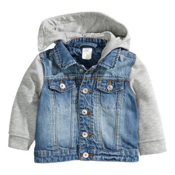 Hooded Denim Jacket - from H&M