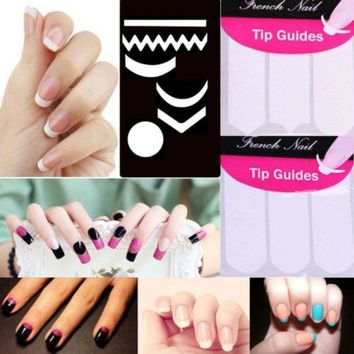 2 Pack Striping Line French Manicure Form Nail Art Tape Sticker Diy Stencil 9.8g0.6y