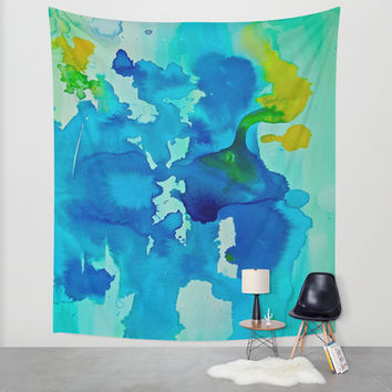 Topography Wall Tapestry by DuckyB (Brandi)