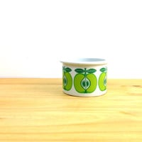 Vintage Arabia Finland Pomona / Apple Jam Jar / Retro Kitchen Decor / Mid Century Modern / Green Apple Bowl