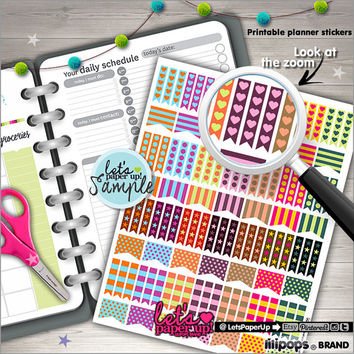 Printable Planner Stickers, Checklist Stickers, Flag Stickers, Planner Stickers College, Kawaii Stickers, Printable, Instant Download, DIY