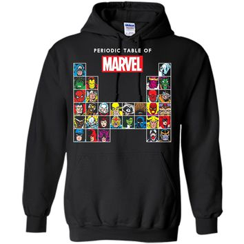 Marvel Periodic Table Of Heroes & Villains Retro  Pullover Hoodie 8 oz
