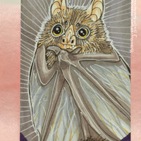 SALE Vampire Bat Copic Marker Drawing Artist Card ACEO Original