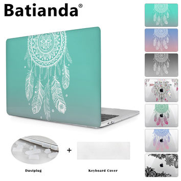 Colorful Gradient Color Cover Sleeve Case For Apple Macbook Pro Retina 13 12 15 Air 13 11 New Pro 13 15 Dream Catcher Design
