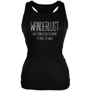 Wanderlust Definition Black Juniors Soft Tank Top