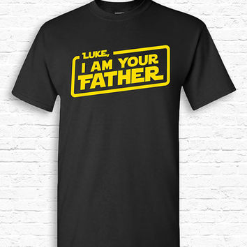 Personalized Name, I am Your Father Custom T-shirt Tshirt Tee Shirt Fathers day gift for Dad Grandpa Star Wars Parody present Movie TF-87