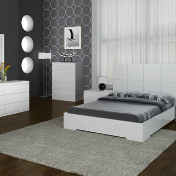 Anna Bed Full White