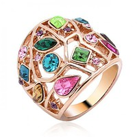 Multicolor Stone Rings