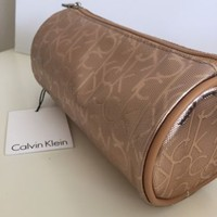 NWT Calvin Klein Rose Gold Cosmetic Makeup Bag