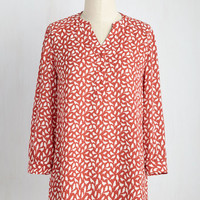 Waiting For My Prints Top in Birds | Mod Retro Vintage Short Sleeve Shirts | ModCloth.com