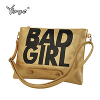 YBYT brand 2017 new bad girl envelope clutch hotsale women handbags ladies party purse crossbody messegner shoulder evening bags