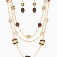 Striped Beads Necklace Set | Jewelry | charming charlie