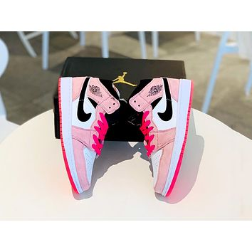 Air Jordan 1 Mid 2019 new women's versatile fashion sneakers shoes
