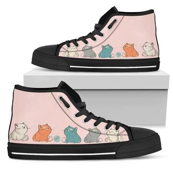 Chubby cats Women's High Top