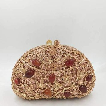 Royal Vintage Rhinestone Evening Clutch
