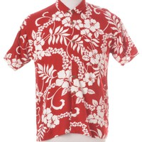 Vintage Hawaiian Shirt Red With One Pocket | Beyond Retro