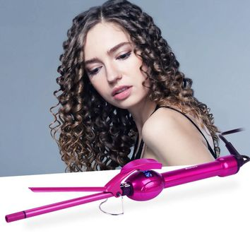 Unisex 9MM Curling Iron Hair Curler Roller Magic Curls Curling Wand Hair Styling Tools With LCD Display Temperature Control 323