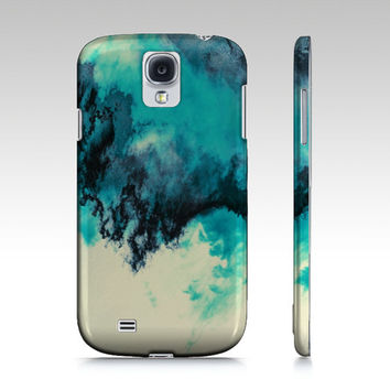 Painted Clouds V Blue Samsung Galaxy S4 Case