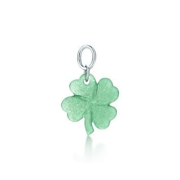 Tiffany & Co. -  Clover charm in green aventurine with sterling silver.