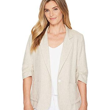 Karen Kane Ruched Sleeve Jacket